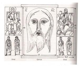 Ricostruzione del trittico del Sinai (Hans Belting)